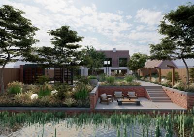 Moderne wellness tuin