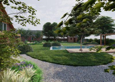 Landelijke tuin met moderne knipoog
